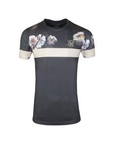 Sik Silk Mens Black Curved Hem Sports T Shirt