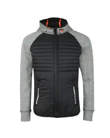 Superdry Mens Grey Gym Tech Hybrid Ziphood