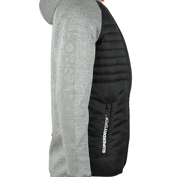 Superdry Sport Mens Grey Gym Tech Hybrid Ziphood main image