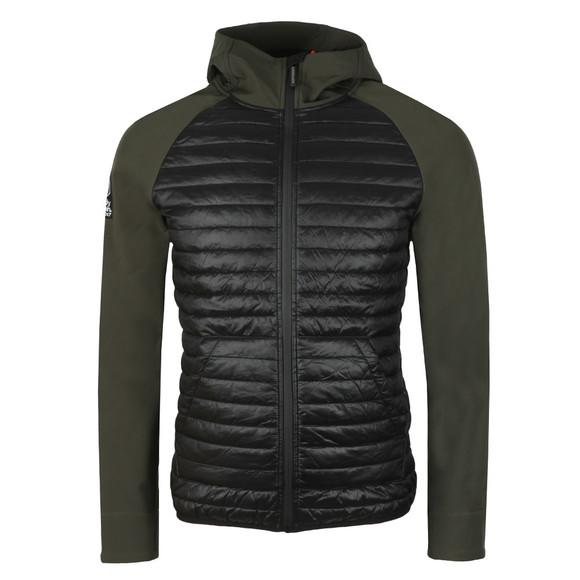 Superdry Mens Green Mountaineer Softshell Hybrid Jacket main image