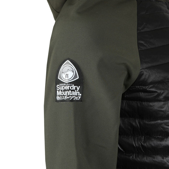 Superdry Mens Green Mountaineer Softshell Hybrid Jacket main image