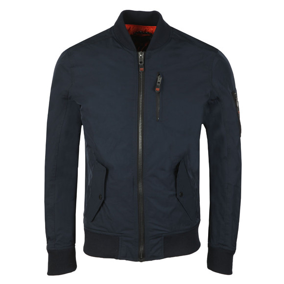 Superdry Mens Blue SDR Wax Flight Bomber main image
