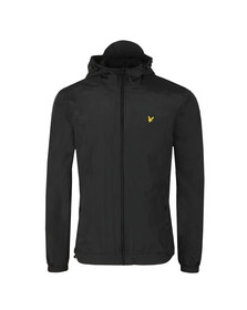 Lyle and Scott Mens Black Zip Through Hooded Jacket