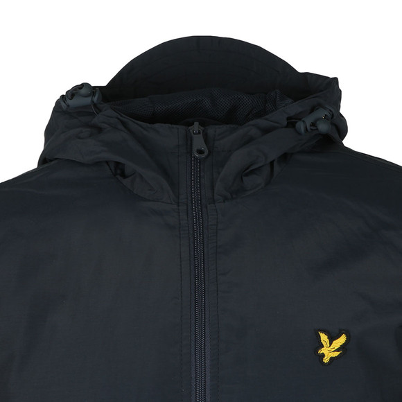 Lyle and Scott Mens Blue Zip Through Hooded Jacket main image