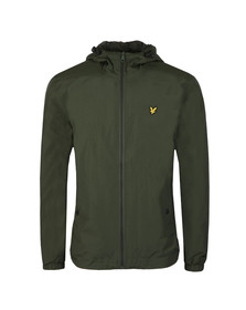 Lyle and Scott Mens Green Zip Through Hooded Jacket