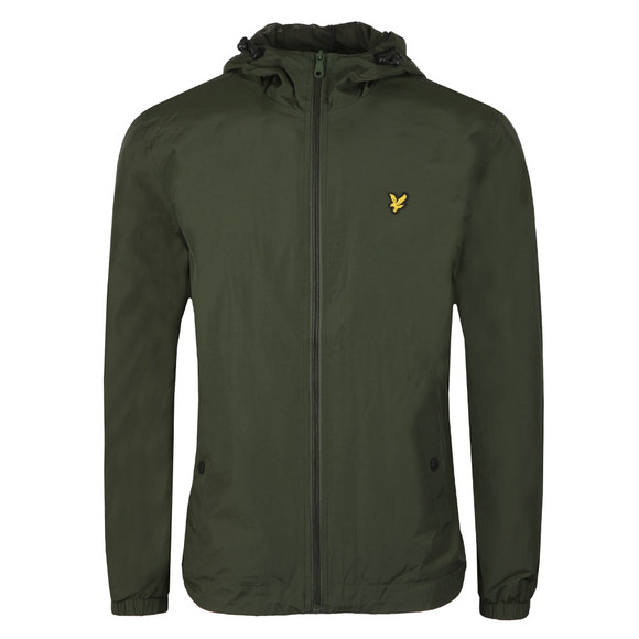 Lyle and Scott Mens Green Zip Through Hooded Jacket main image