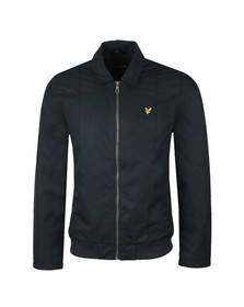 Lyle and Scott Mens Blue Collard Bomber Jacket