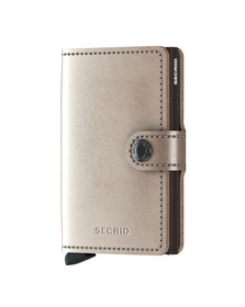 Secrid Mens Off-white Metallic Mini Wallet