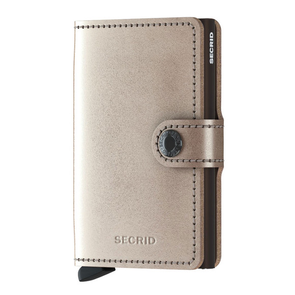Secrid Mens Off-White Metallic Mini Wallet main image