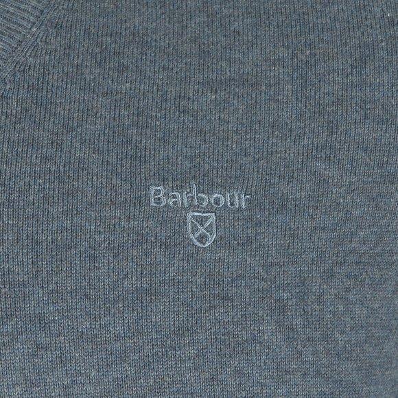 Barbour Lifestyle Mens Blue Pima Cotton V Neck Jumper main image