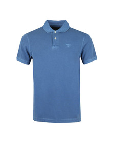 Barbour Lifestyle Mens Blue S/S Washed Sports Polo