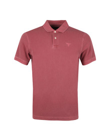 Barbour Lifestyle Mens Red S/S Washed Sports Polo
