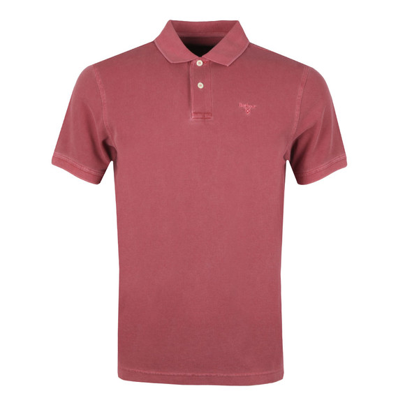 Barbour Lifestyle Mens Red S/S Washed Sports Polo main image