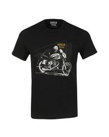 Barbour International Mens Black S/S Norton Racer Tee