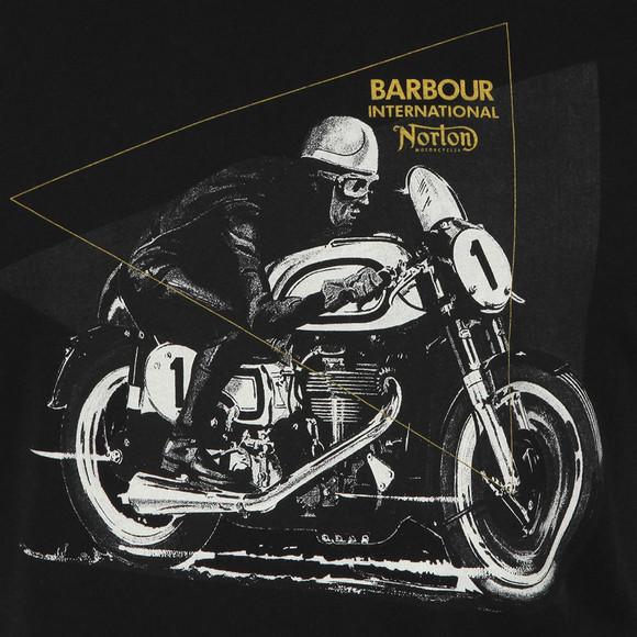 Barbour International Mens Black S/S Norton Racer Tee main image