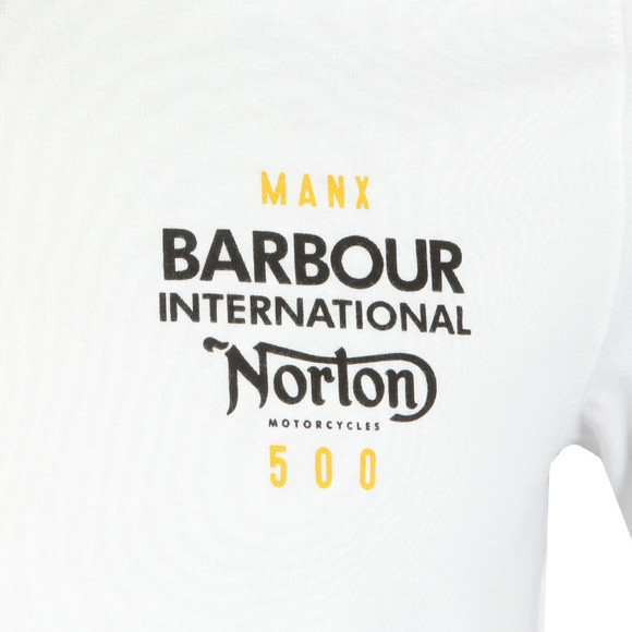 Barbour International Mens White S/S Norton Engine Tee main image