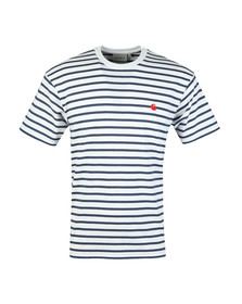 Carhartt Mens Blue Champ Stripe T Shirt