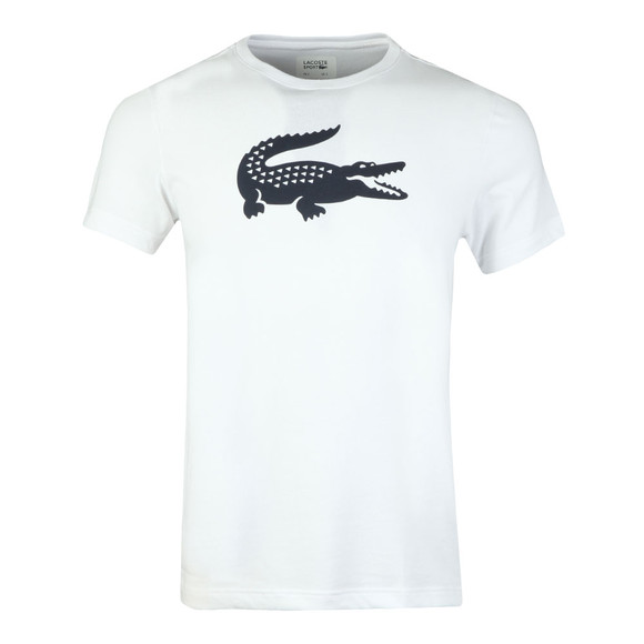 Lacoste Sport Mens White S/S TH3377 Tee main image
