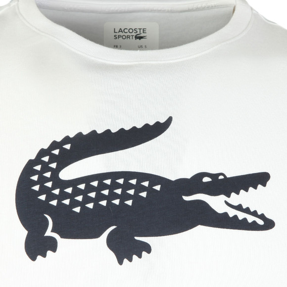 Lacoste Sport Mens White S/S TH3377 T-Shirt main image