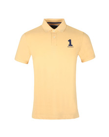Hackett Mens Yellow S/S Classic Polo