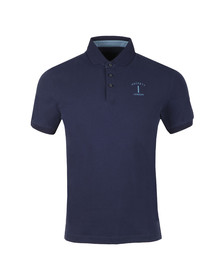 Hackett Mens Blue S/S MR Classic Polo