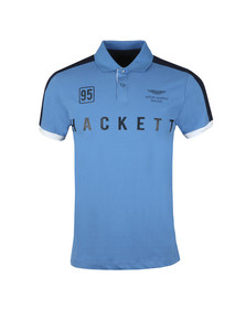 Hackett Mens Blue S/S AMR Panel Polo