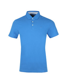 Hackett Mens Blue S/S Swim Trim Polo