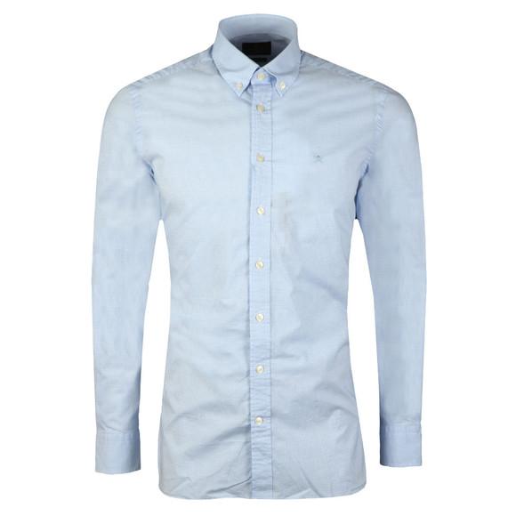 Hackett Mens Blue L/S Gingham Shirt main image