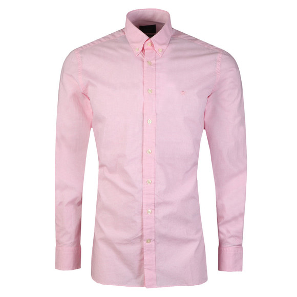 Hackett Mens Pink L/S Gingham Shirt main image
