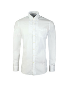Hackett Mens White L/S Oxford Shirt