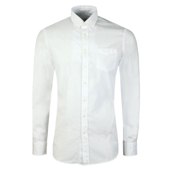 Hackett Mens White L/S Oxford Shirt main image