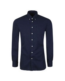 Hackett Mens Black L/S Oxford Shirt
