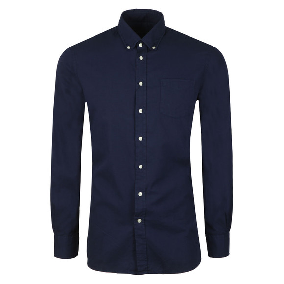 Hackett Mens Black L/S Oxford Shirt main image