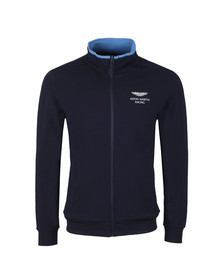 Hackett Mens Blue AMR Full Zip Sweat