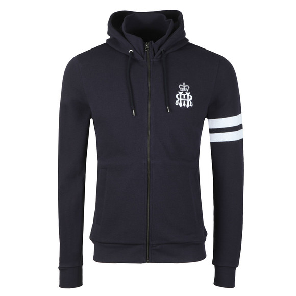 Hackett Mens Blue HRH Full Zip Hood main image