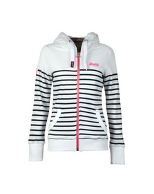 Superdry Womens White Sun & Sea Lite Zip Hoody