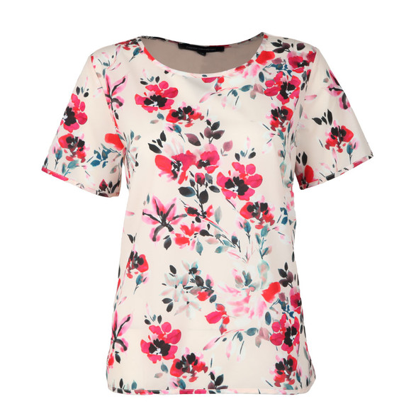 French Connection Womens Pink Linosa Crepe Light Tee main image