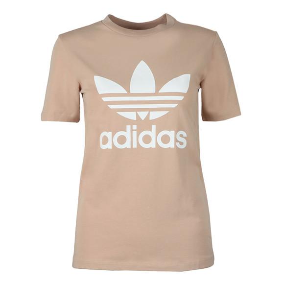 adidas Originals Womens Beige Trefoil Tee main image