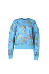 Vivienne Westwood Anglomania Womens Blue Thank You Print Puffy Shoulder Sweatshirt