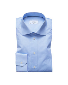 Eton Mens Blue Heart Print Shirt