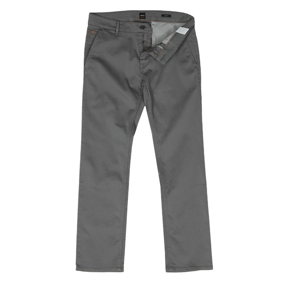 BOSS Mens Grey Casual Schino Slim Chino