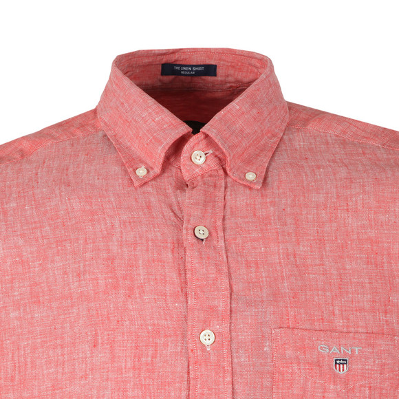 Gant Mens Orange The Linen SS Shirt main image