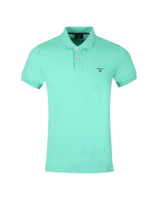 Gant Mens Turquoise Contrast Collar S/S Polo