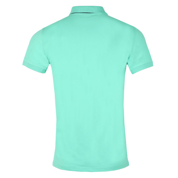 Gant Mens Turquoise Contrast Collar S/S Polo main image