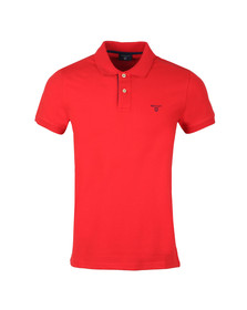 Gant Mens Red Contrast Collar S/S Polo