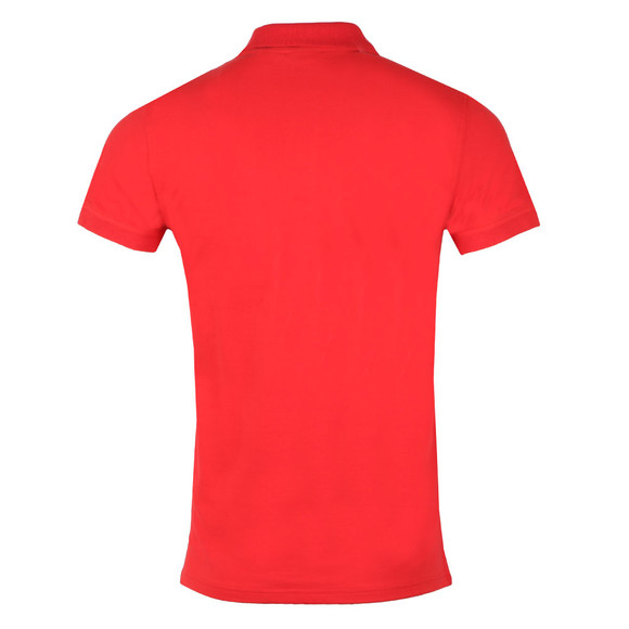 Gant Mens Red Contrast Collar S/S Polo main image