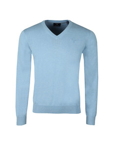 Gant Mens Blue V Neck Jumper