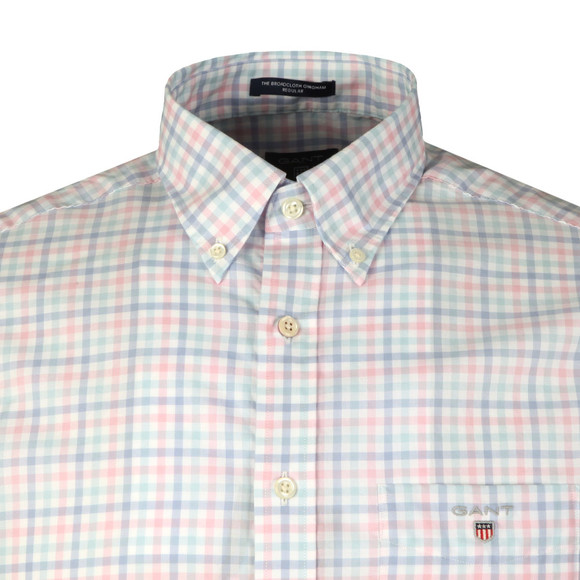 Gant Mens Pink L/S Broadcloth 3 Col Shirt main image