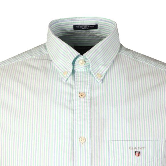 Gant Mens Turquoise L/S 2 Colour Banker Shirt main image