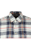 Gant Mens Blue S/S Linen Madras Shirt